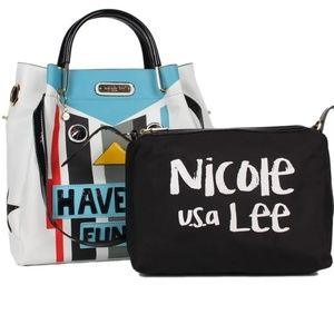 "Nicole Lee "" Have Fun Bucket Bag "" and Pouch"